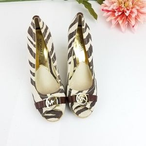 Michael Michael Kors animal print wedge espadrille